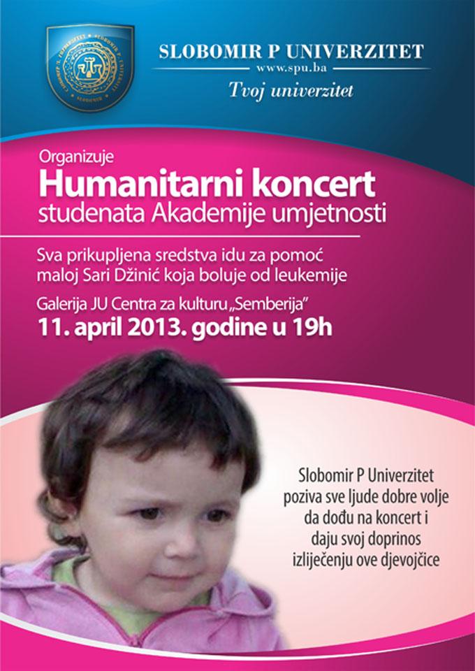 Za sajt  Slobomir P Univerzitet - koncert za Saru Dzinic