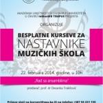 Slobomir P Univerzitet organizuje besplatne kurseve za nastavnike muzičkih škola