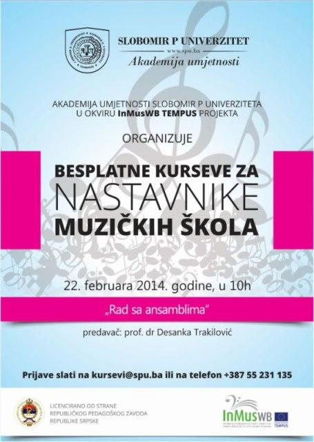 Seminari za nastavnike muzickih skola - Slobomir P Univerzitet