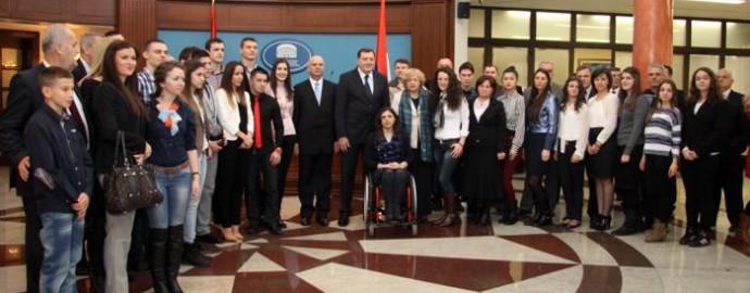 Studenti na prijemu kod predsjednika Dodika - Slobomir P Univerzitet