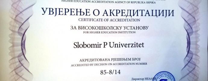akreditacija Slobomir P Univerzitet