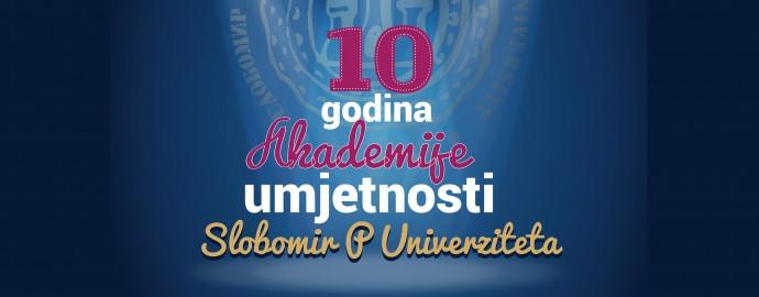 plakat za 10 godina akademije umjetnosti