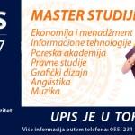 PRIJAVA ZA UPIS NA MASTER STUDIJE AKADEMSKE 2017/18